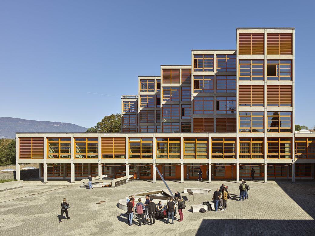 The Former Ecole D Ingenieurs De L Etat De Vaud 1966 75 In Yverdon Switzerland Designed By School Architecture Architecture Photography Modern Architecture