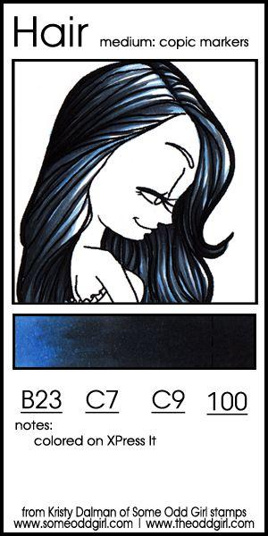 Color Swatch: Hair Color Combo 2, Blue-Black Hair | http://www.theoddgirl.com/2014/05/color-swatch-hair-color-combo-2-blue-black-hair/