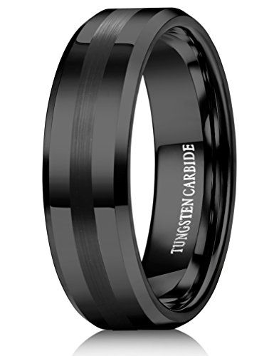 Buy Now 51 96 Adsbygoogle Window Adsbygoogle Push Tungary Je Mens Wedding Bands Tungsten Black Tungsten Carbide Ring Tungsten Mens Rings