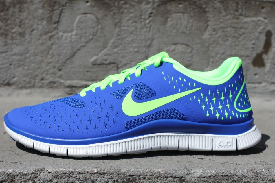 Nike Free 4.0 V2 Game RoyalElectric Green | Sole