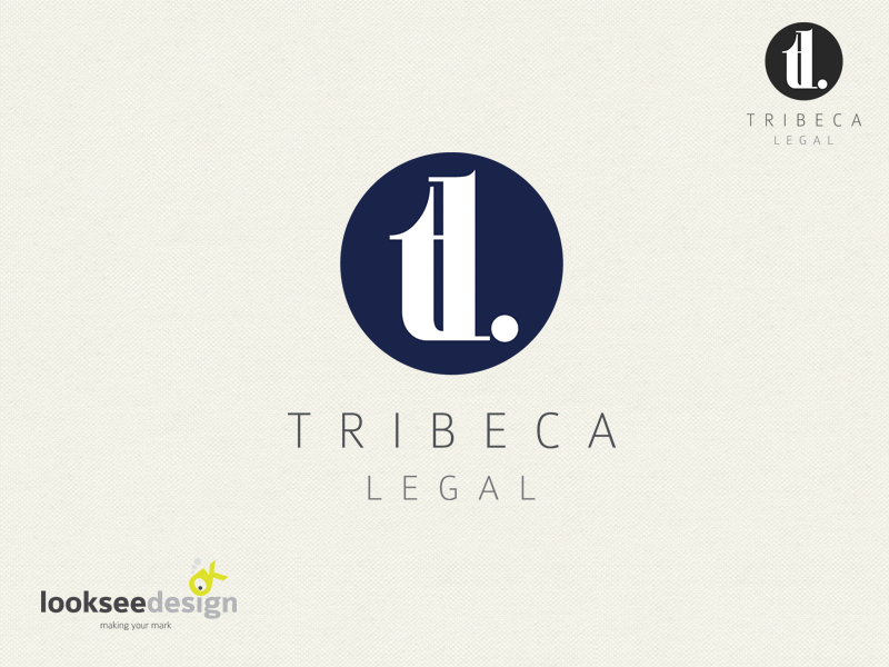 Tribeca Legal Branding - Designed by Looksee Design  (www.lookseedesign.com.au)