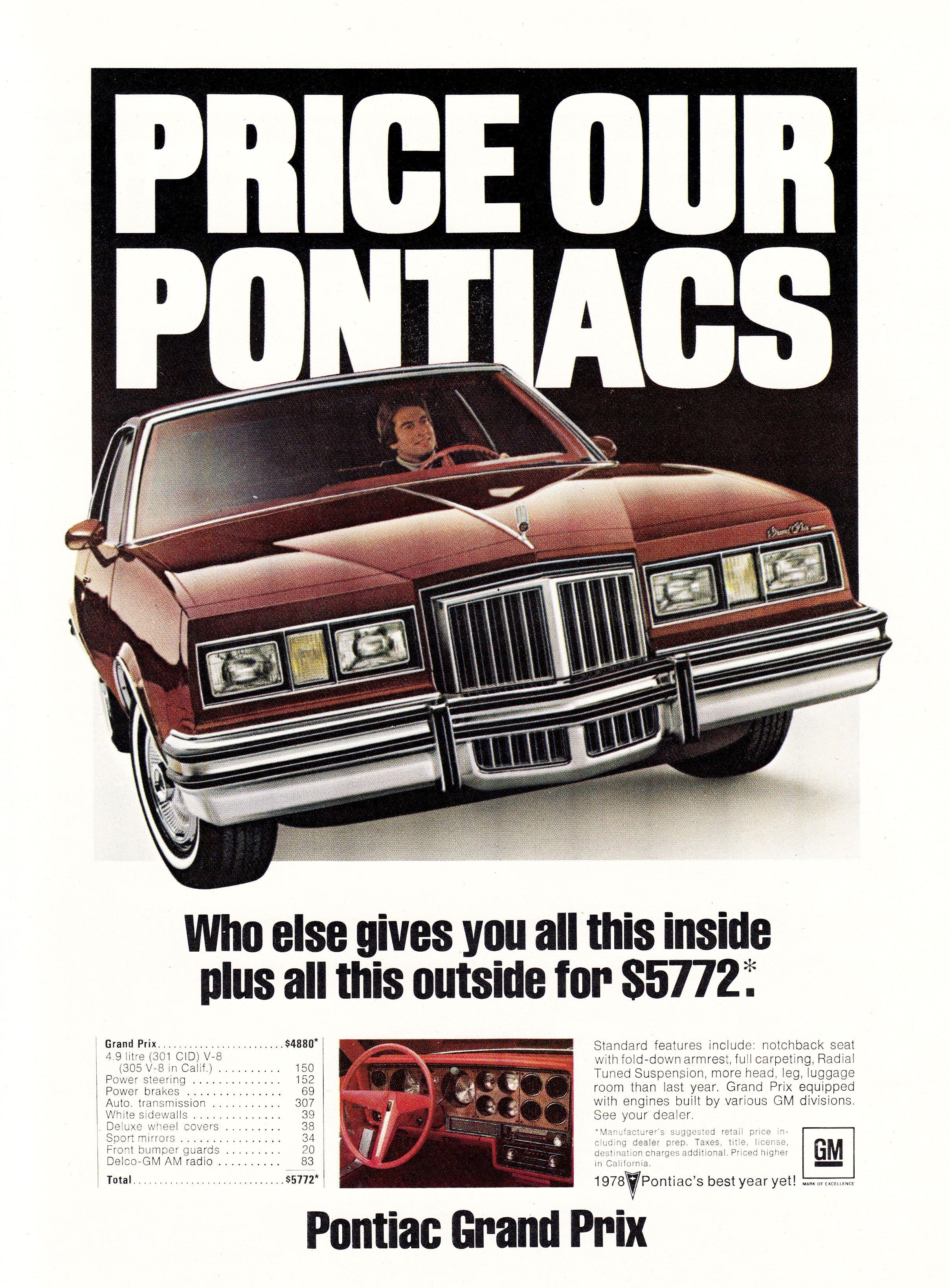1978 Pontiac Grand Prix : pontiac, grand, Pontiac, Grand, Prix., Prix,, Pontiac,, Advertising