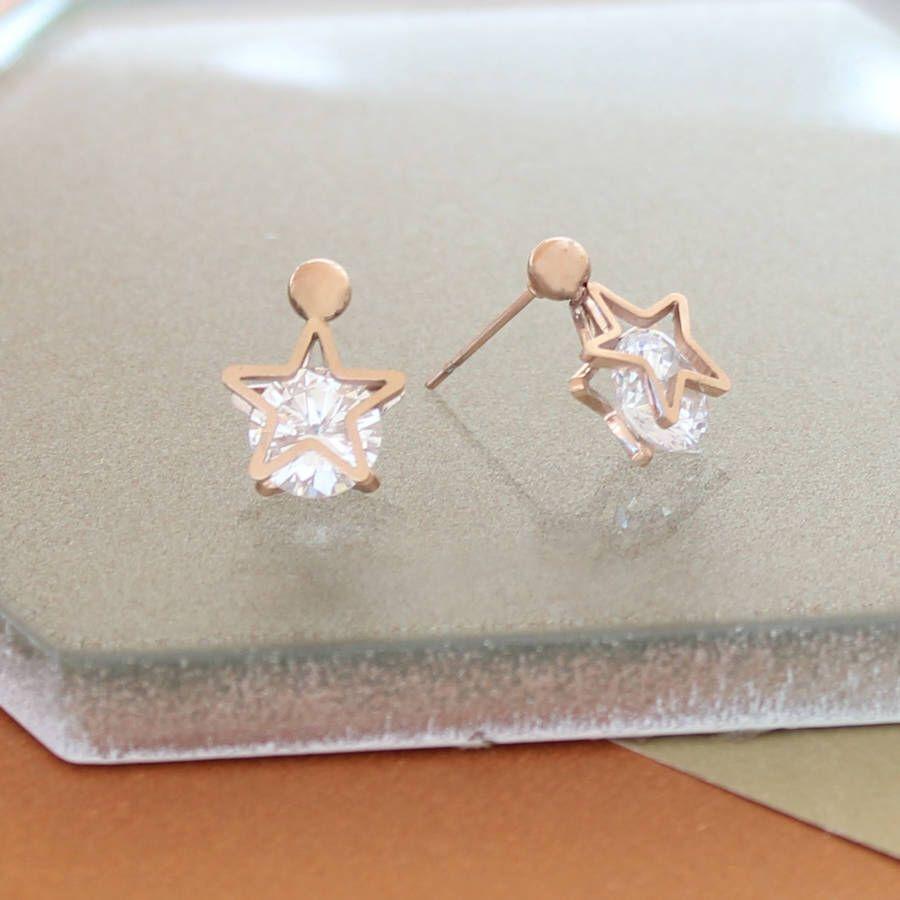 Not On The High Street Star Earrings Stud Star Earrings Stud Earrings