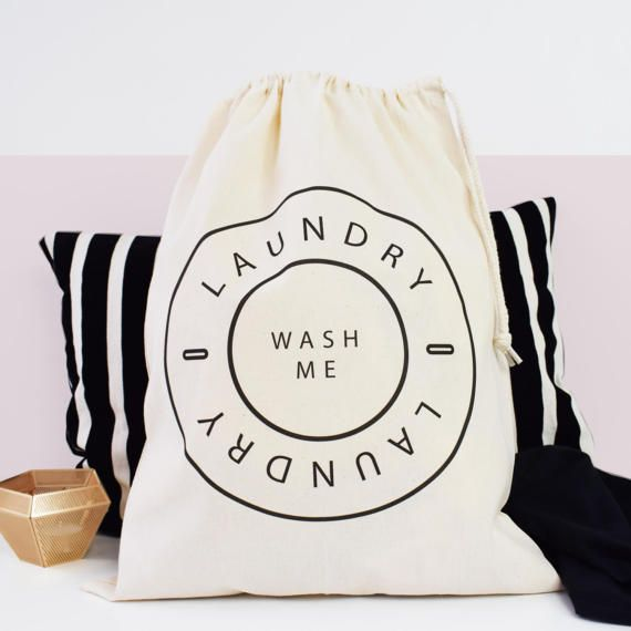 Home And Travel Laundry Bag Wash Me Laundry Bag Drawcord Cotton