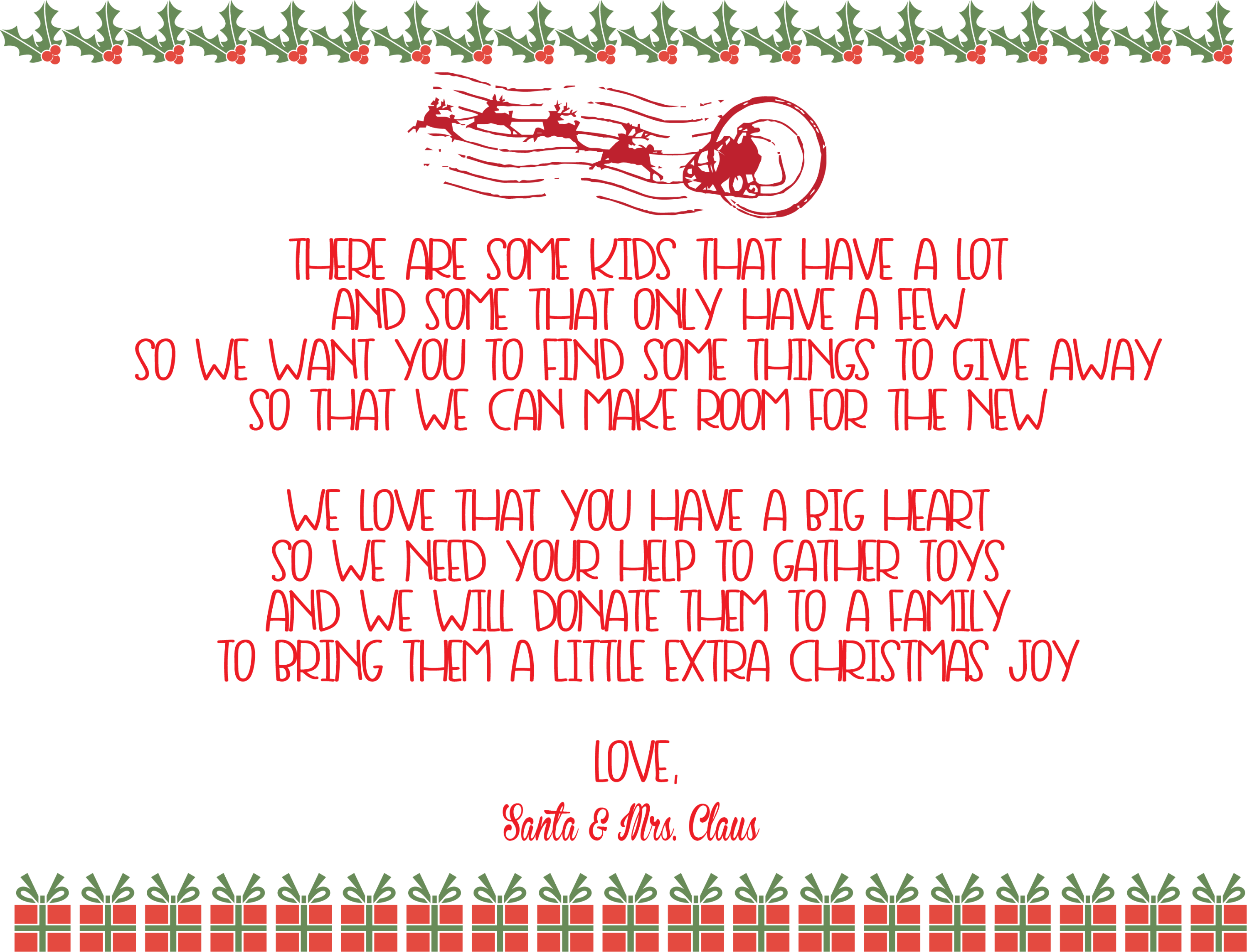 A Special Request From Santa Elf On The Shelf Printable