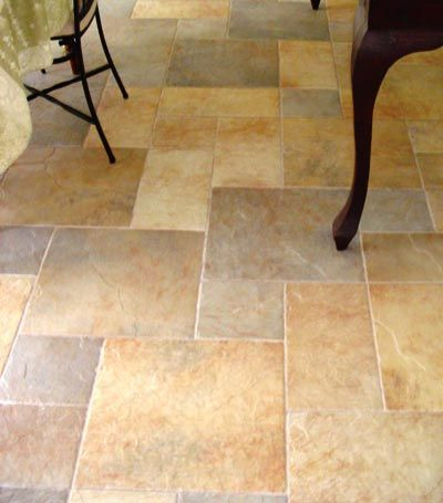 pictures of tile floors | pattern tile and carbonized bamboo meet at ...