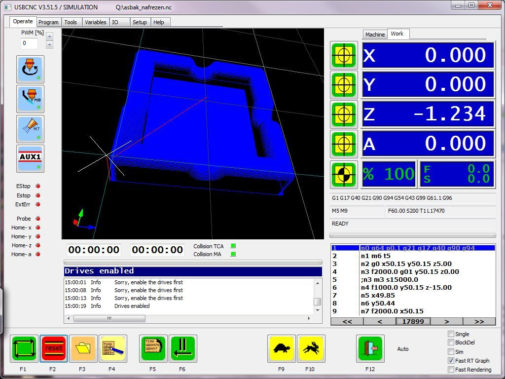 Operate scherm | CNC in 2019 | Cnc controller, Cnc, Cnc software