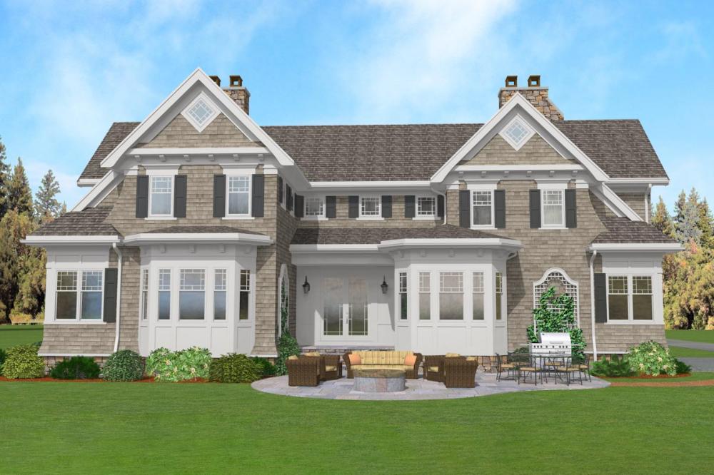 Coastal Shingle Style House Plan with Apartment Option