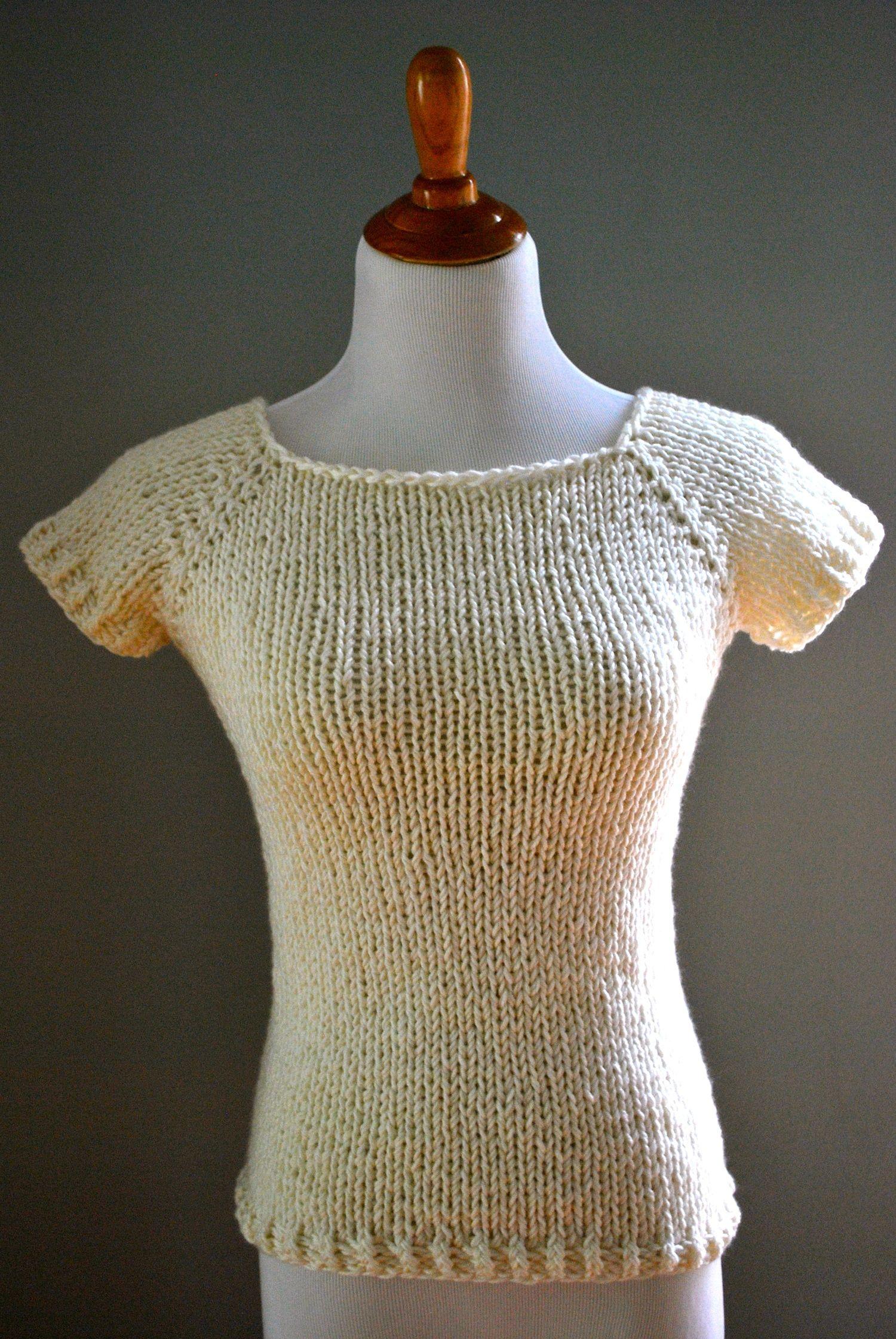 Basic Raglan Summer Sweater Knitting Pattern   Sweater knitting ...