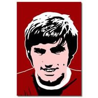 George Best - Manchester United footballer pop art print canvas art pop art print