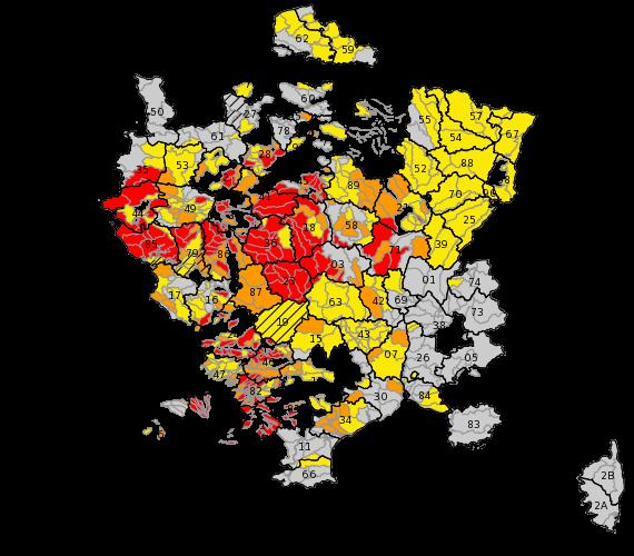 Restrictions par zones d'alerte Carte, Cartes, Sécheresse