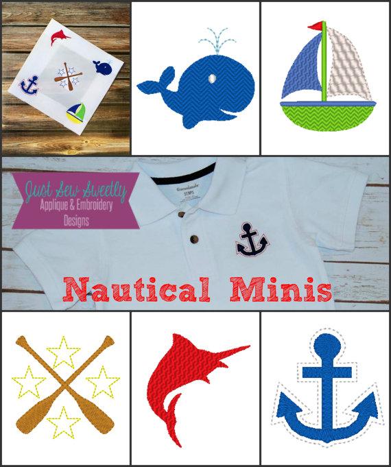 Nautical Mini Embroidery Design Embroidery Machine Pattern 2
