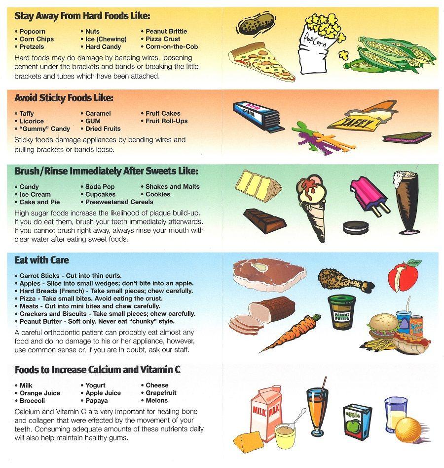 Dental care braces tips peanut brittle dental care