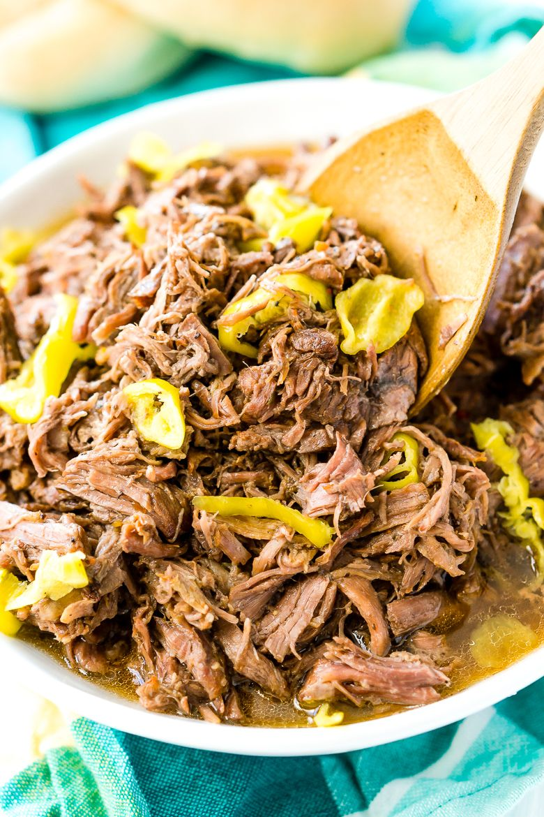 This Slow Cooker Italian Beef is an easy dinner recipe ...