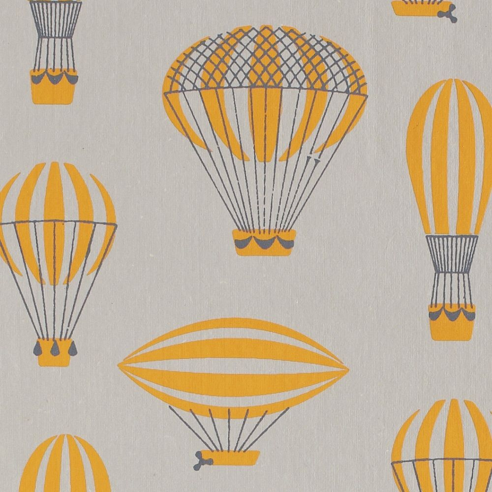 Ancient Airship on Gray Gift Wrap / Designer Gift Wrap