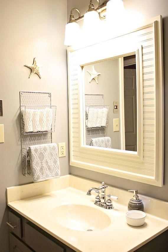 Hand Towel Holder Idea Like Putting Wood Around The Mirror New