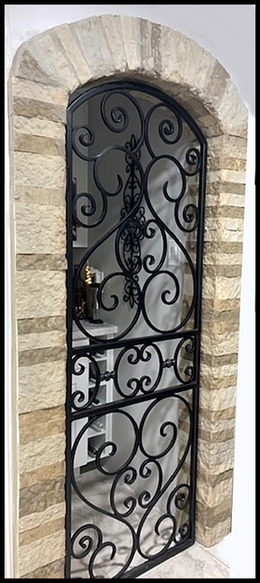 Cabernet Iron Wine Cellar Door Or Gate 80 To 96 Inches Tall