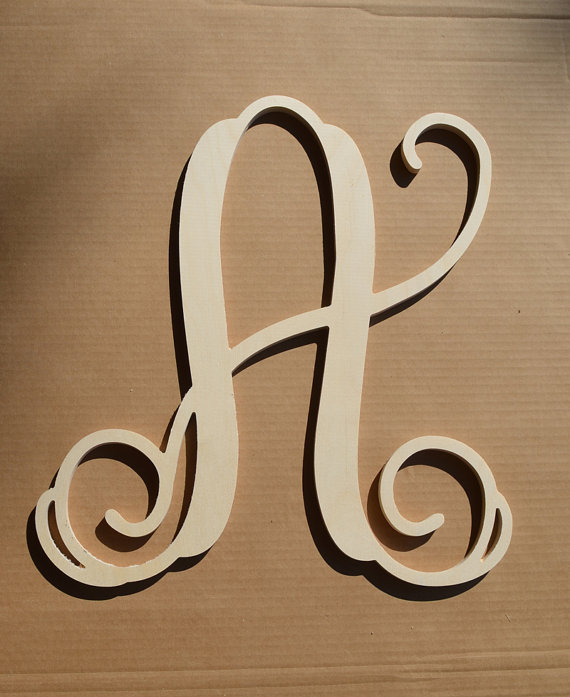 36quot inch wooden monogram letter unfinishedunpainted for 36 inch wooden letters