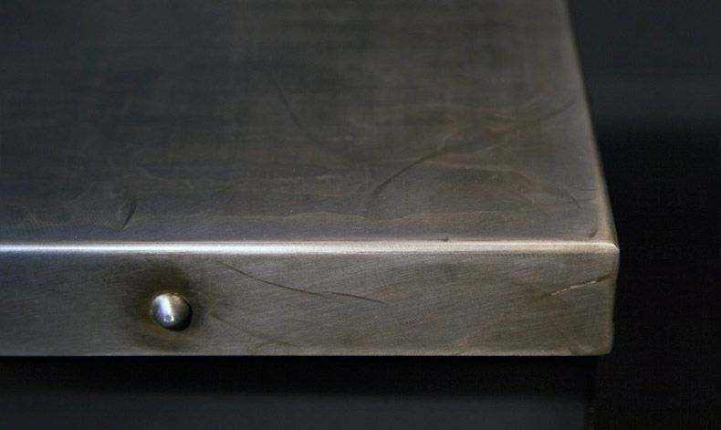 Love The Studs But Instead Of Pewter Would Want Stainless Steel