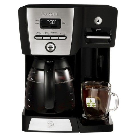 Mr Coffee 12 Cup Programmable Coffeemaker With Hot Shot Water Station