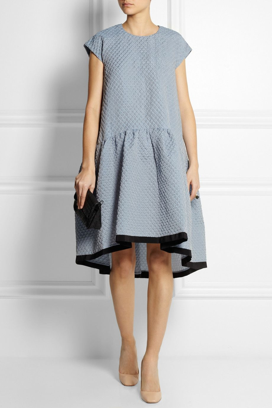 Victoria, Victoria Beckham | Oversized dropped-waist cloqué dress | NET-A-PORTER.COM