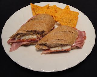 Christine's pantry ham and pepperoni sandwich