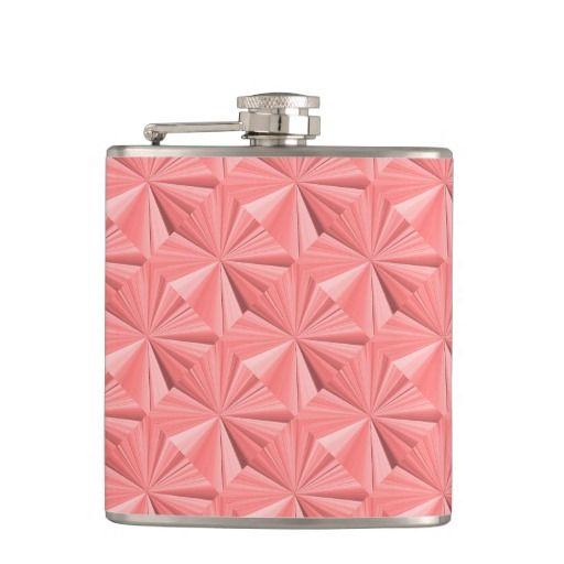 Diamond Plate Rose Pink Hip Flask by Janz
