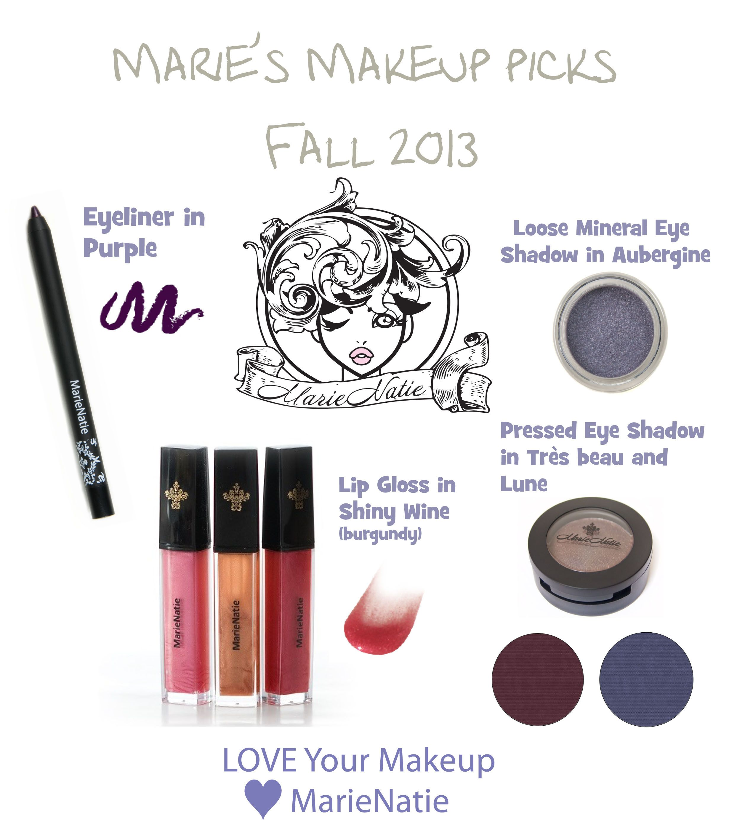 MarieNatie Makeup Picks for Fall 2013 #makeup #trends #fall2013 #nontoxic #cosmetics