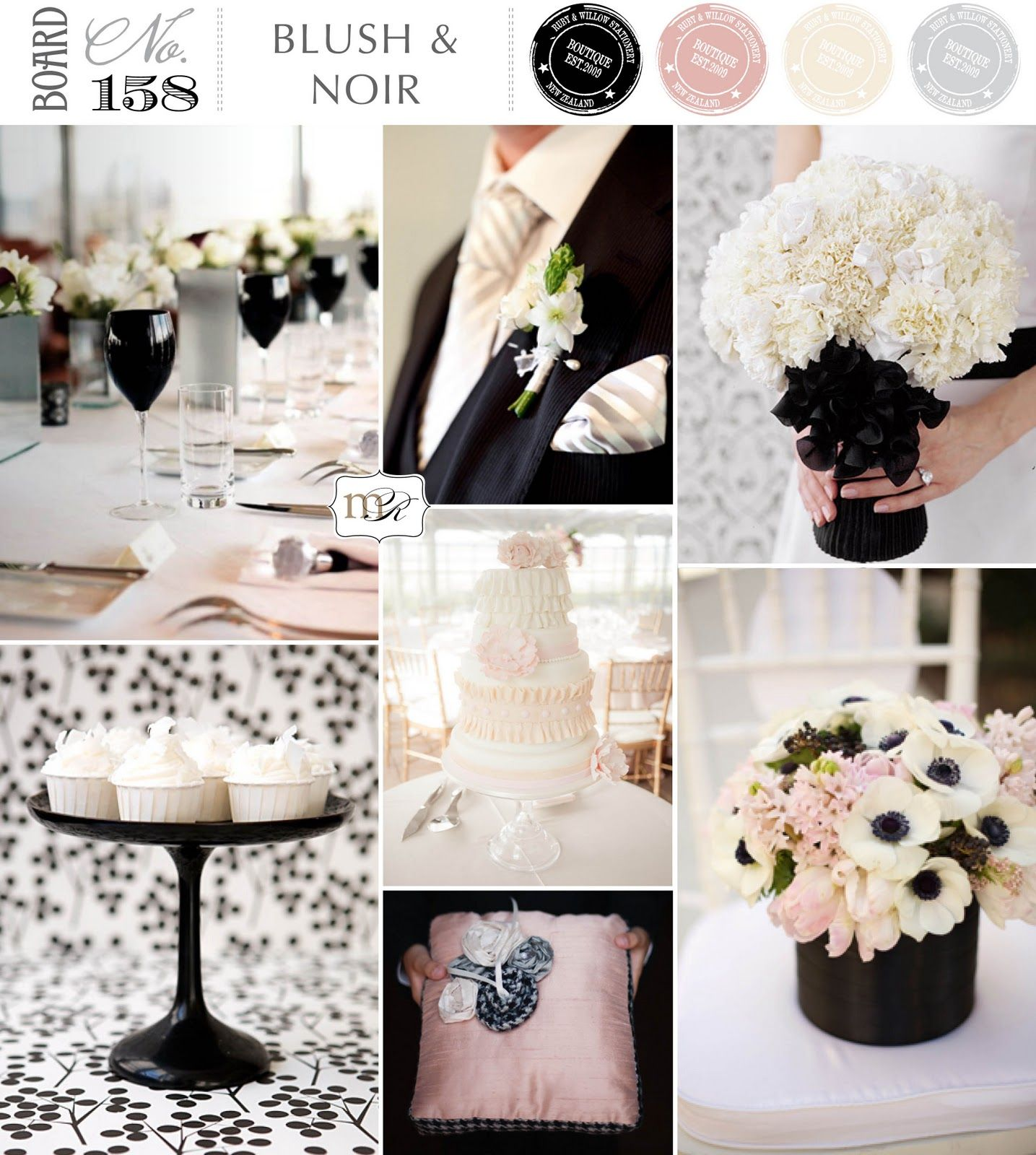 Blush and Noir Magnolia Rouge | Wedding Inspirations-A Wedding Theme ...