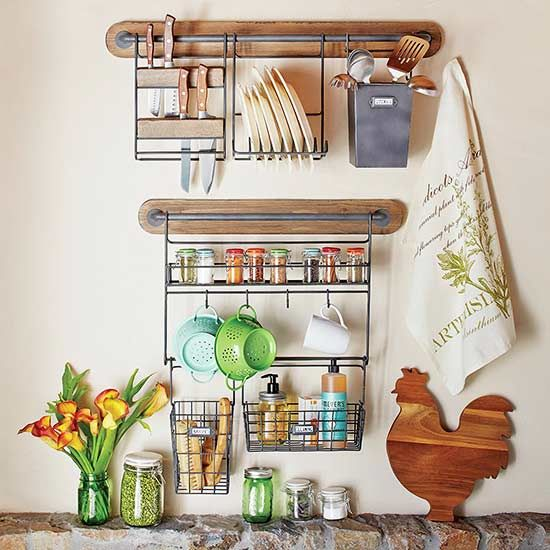 Add Cute Kitchen Accessories To Your Kitchen That Also Serve A Purpose!  These Wall Organization