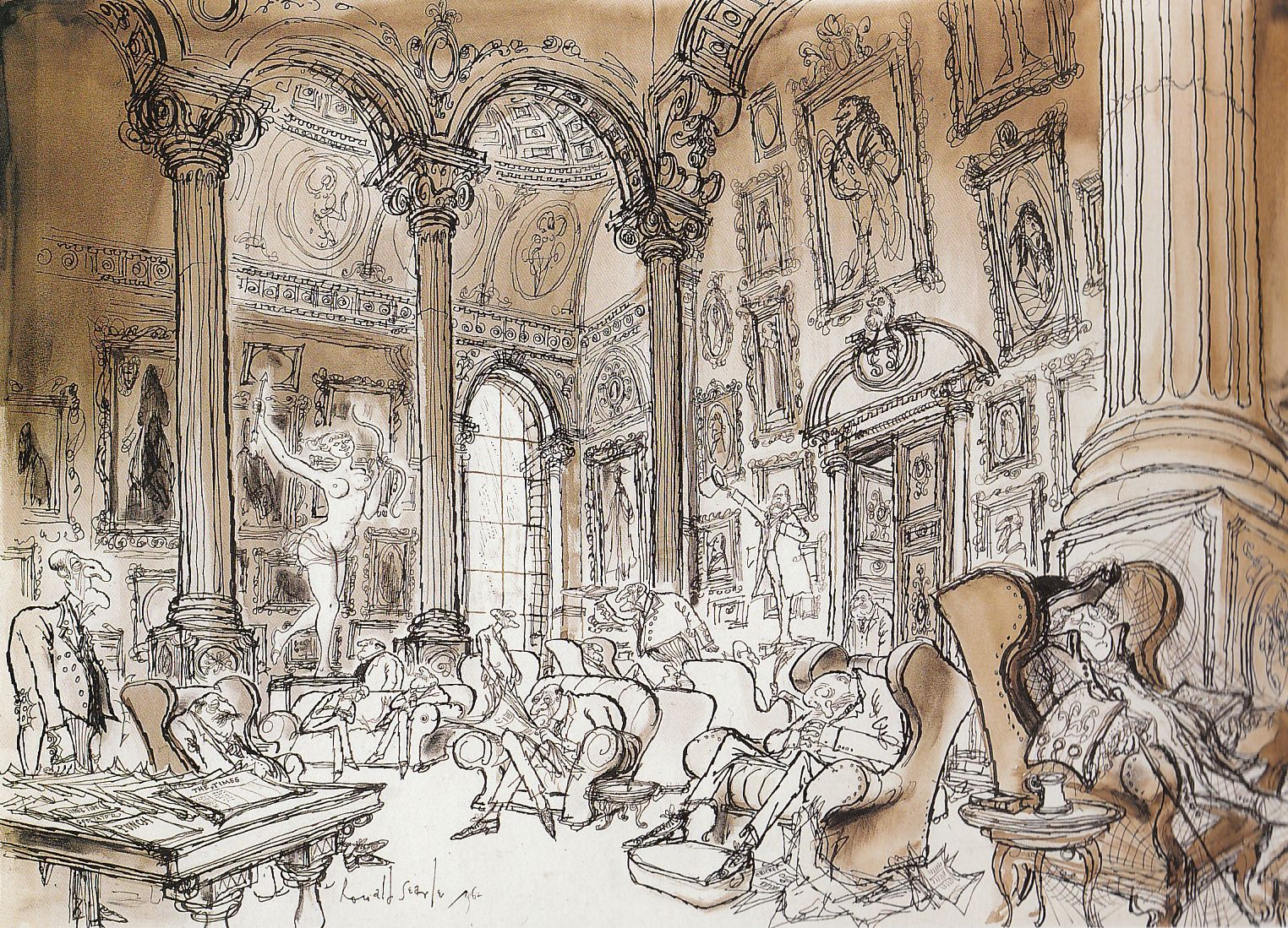 The English Club With Images Ronald Searle Disney Concept Art Concept Art