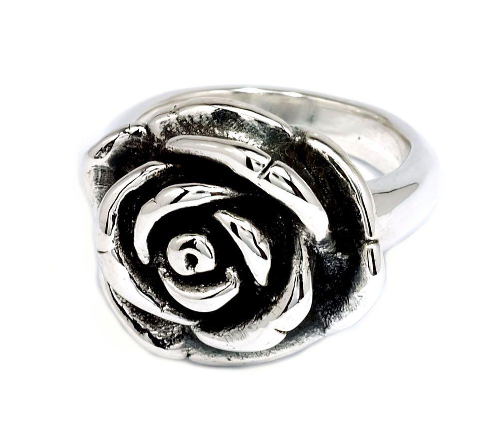 21x18mm Flower Rose Ring 925 Sterling Silver Statement BKGjewelry [SR0008] #BKGjewelry #Statement