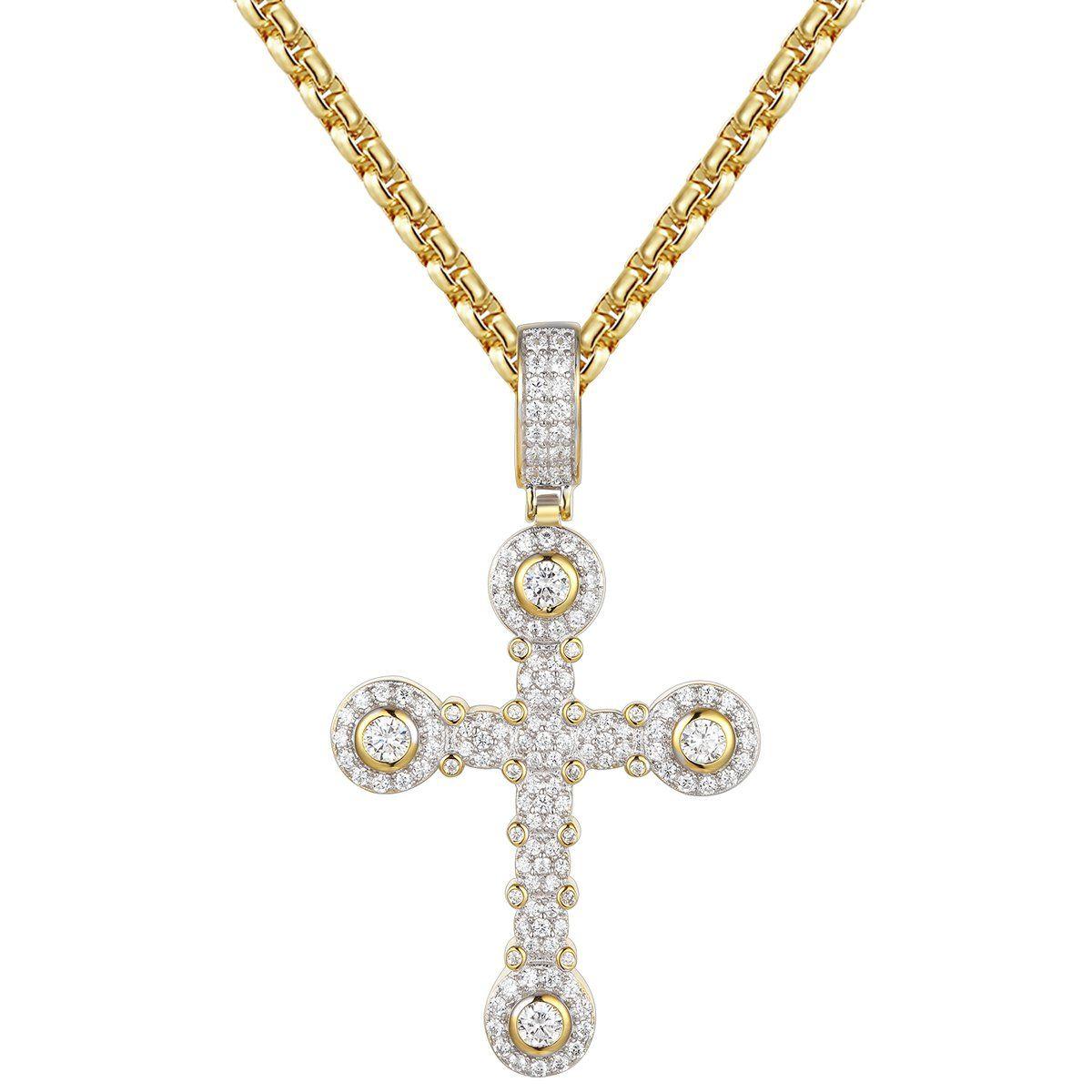 Solitaire cluster custom silver cross pendant necklace pendants solitaire cluster custom silver cross pendant necklace aloadofball Image collections