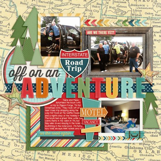 12 Awesome Scrapbook Pages With Maps Scrapbooking Layouts