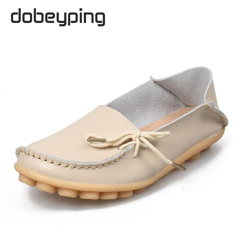 Surprising Day Women's Casual Shoes Genuine Leather Woman Loafers Slip-On Female Flats Moccasins Ladies Driving Shoe Cut-Outs Mother Footwear Pink 7