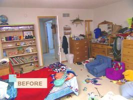 "Messy Kids Room Before And After hgtv - ""transform messy boys' room into a fun haven"" 