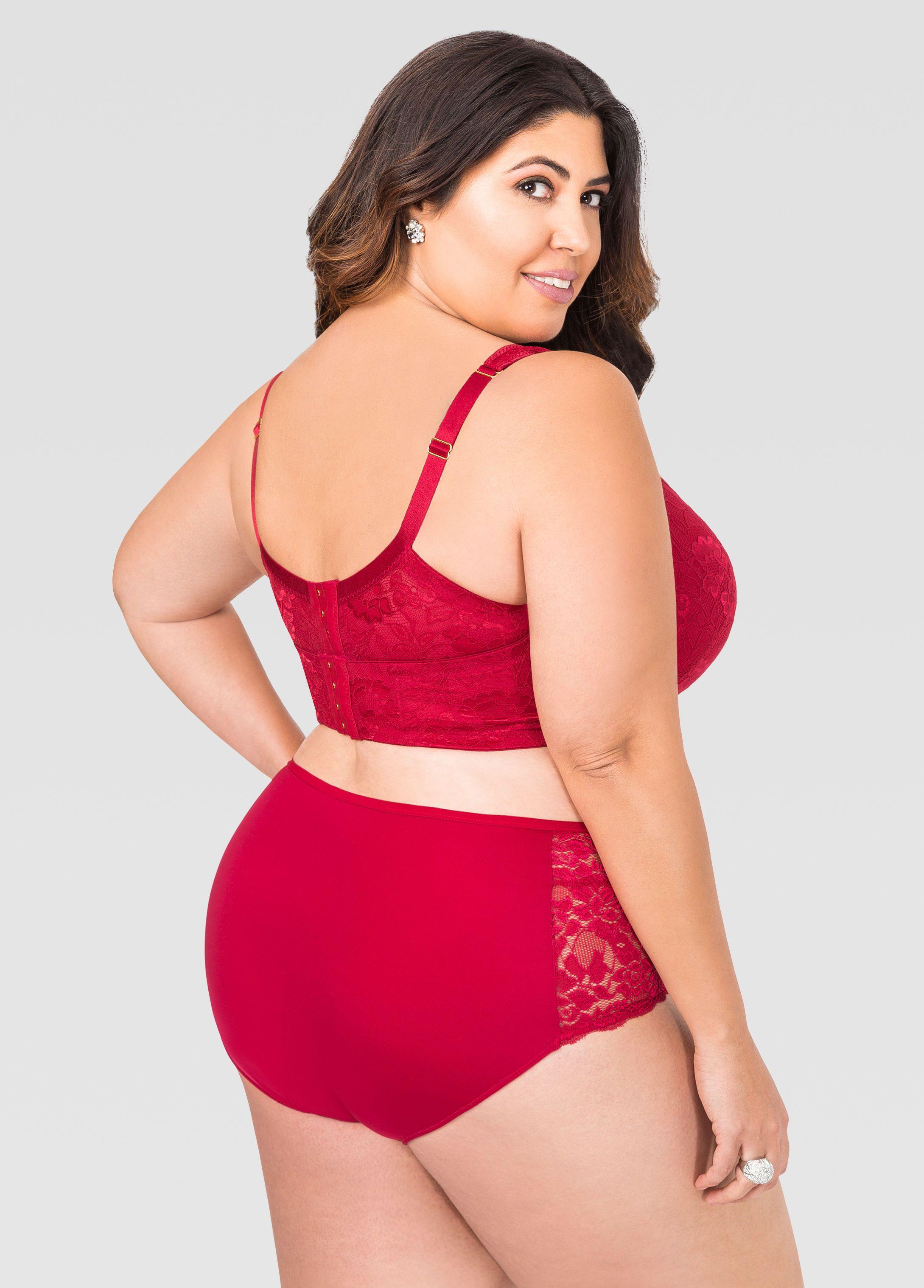 e0b5a2f853 Lace Plunge Butterfly Bra - Ashley Stewart Plus Size Bra, Plus Size Model,  Plus