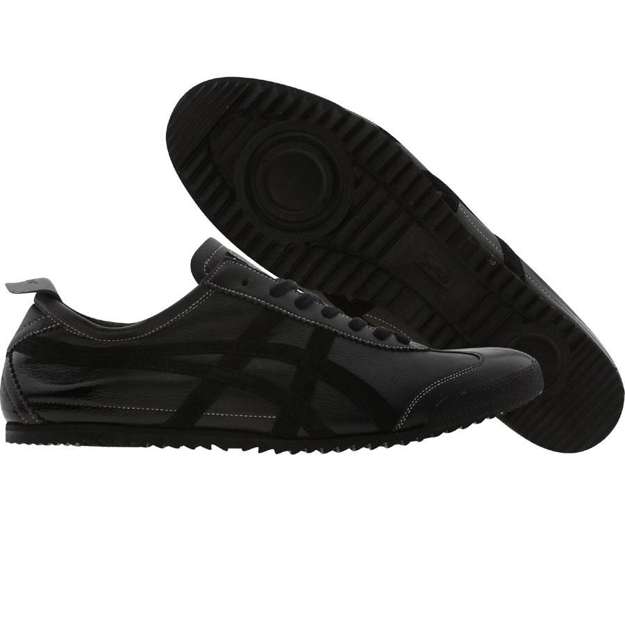 Asics Onitsuka Tiger Mexico 66 Deluxe Nippon Made Collection in black and  deep black 0a70e7a3c2a11