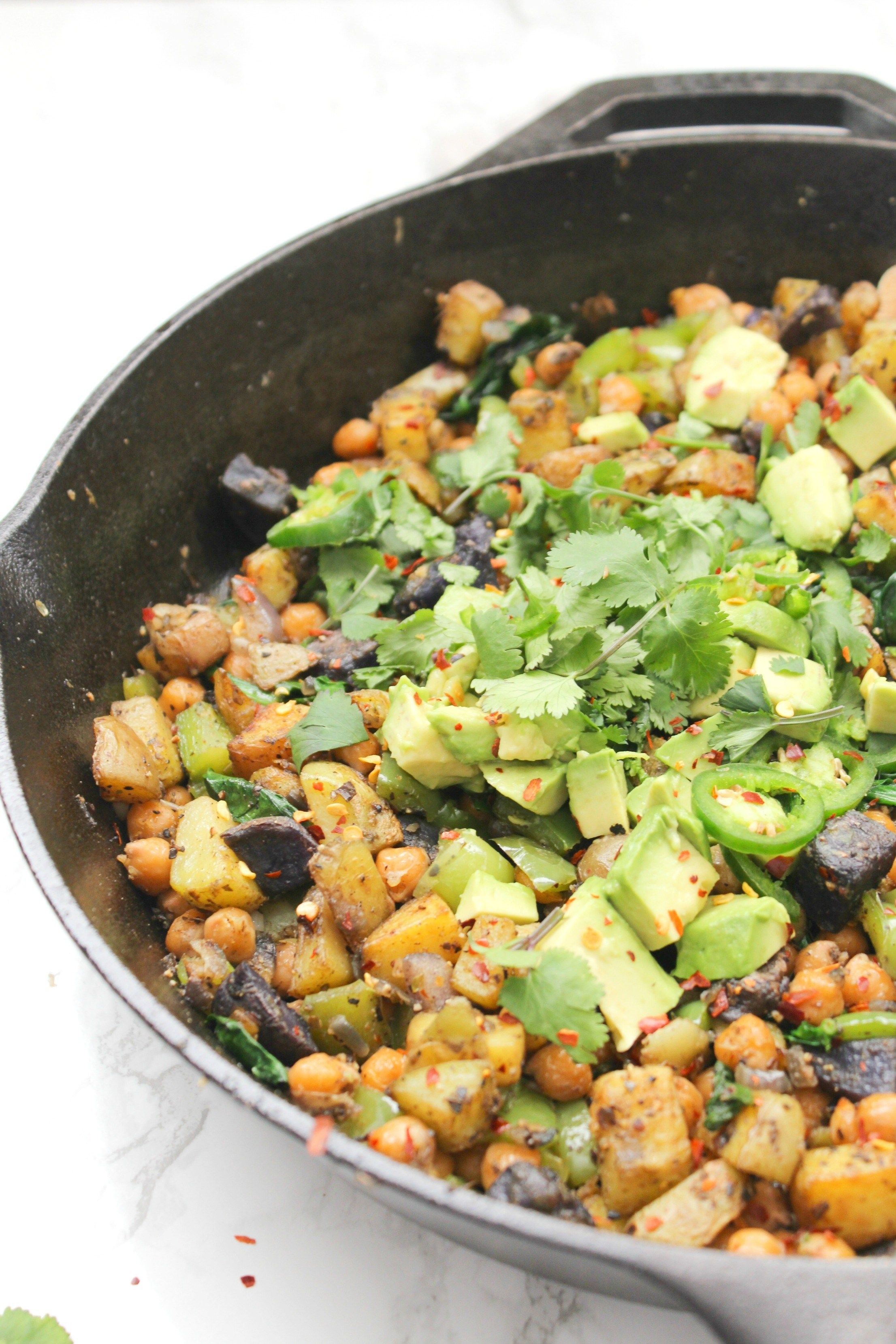 Vegan Chickpea Potato Breakfast Hash This Savory Vegan Recipe Breakfast Potatoes Savory Vegan Whole Food Recipes