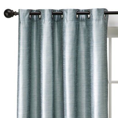 Target Expect More Pay Less Blue Curtains Bedroom Faux Silk Curtains Curtains