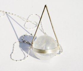 Vintage Sphere Silver Necklace