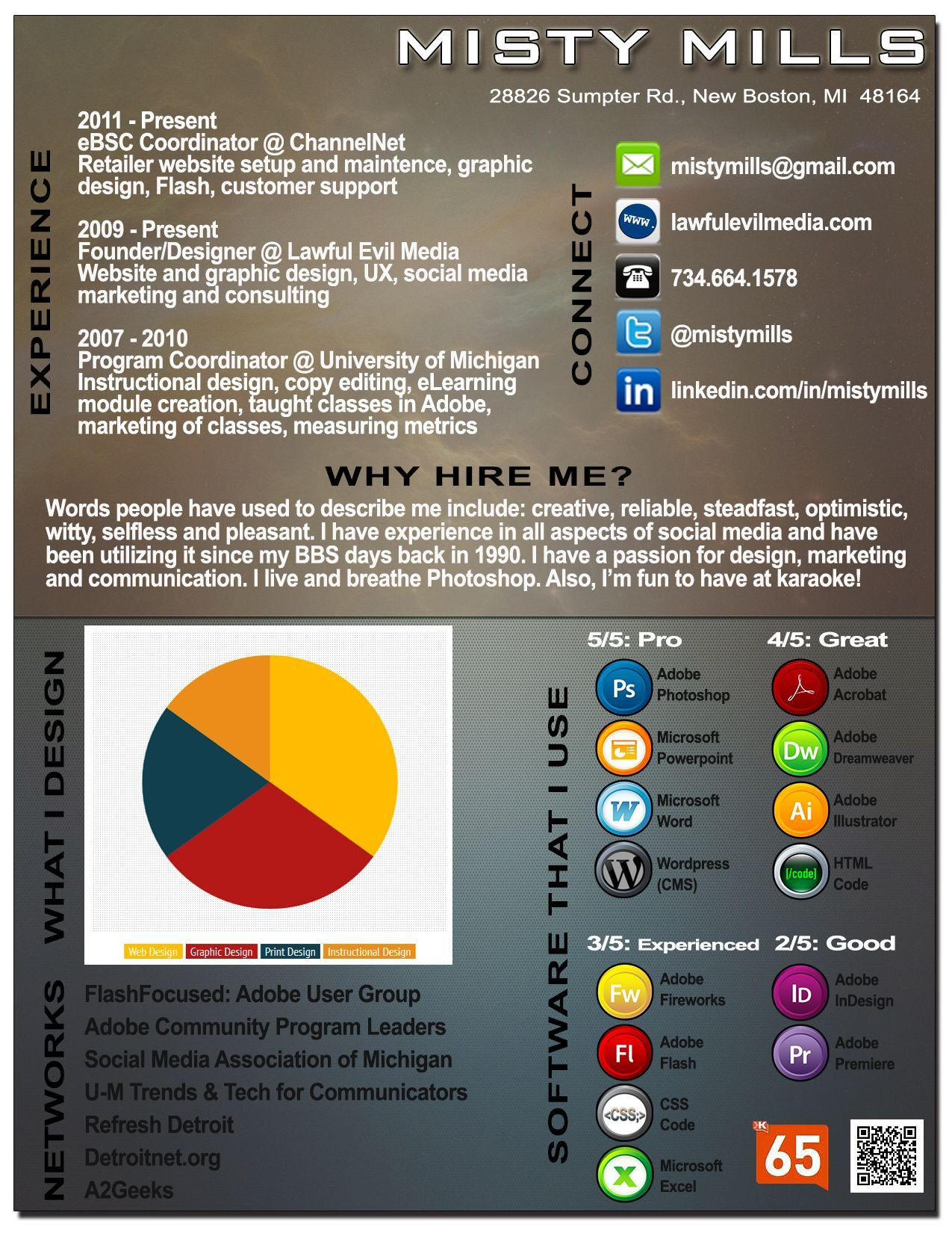 I design infographic resumes check out my portfolio by