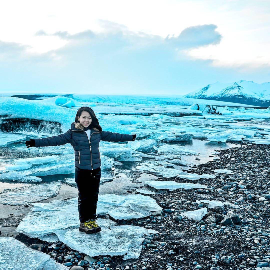 Jökulsárlón Lagoon, Iceland | instagram: @quennandher | https://instagram.com/quennandher First encounter with giant Icebergs.  .