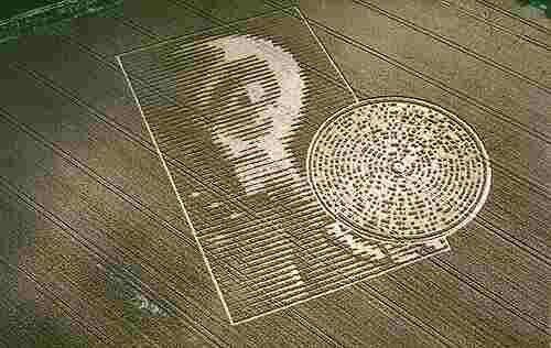 Crop Circle Appeared At Crabwood Farm House Near Winchester Hampshire On August 15th 2002 It Is About 100 Meters Lo Crop Circles Arecibo Message Circle Art