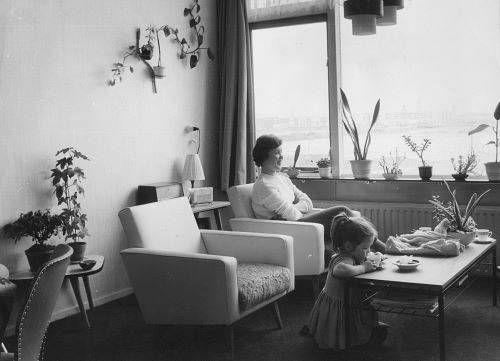 Woonkamer jaren 39 60 herinneringen pinterest jaren for Interieur 60er jaren