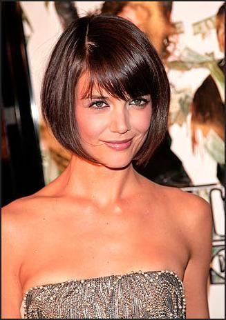 Katie Holmes Haircut Katie Holmes Hair Zimbio Katie Holmes Hair Hair Styles Short Hair Styles