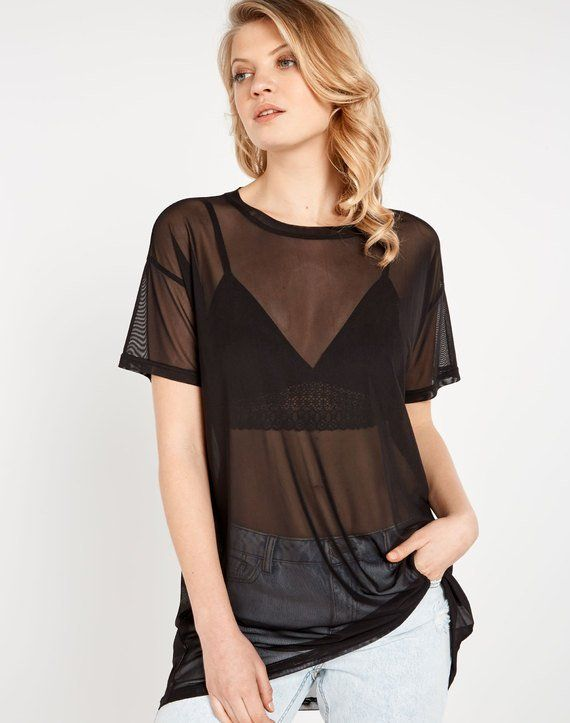 41741cc622ee Oversized Mesh Top | Buy Online at Glassons | Cheap clothes-school ...