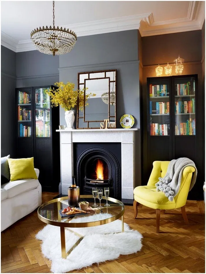 34 Gorgeous Grey Living Room Ideas In 2020 Dark Living Rooms Victorian Living Room Living Room Grey