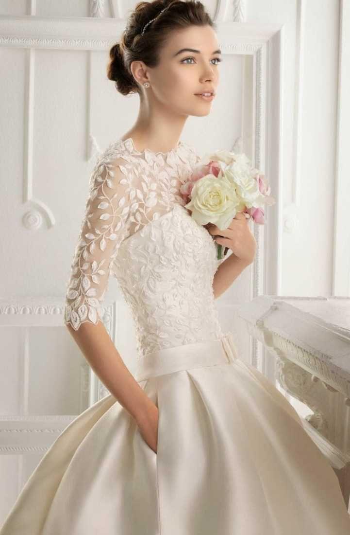 Modest wedding dresses with sleeves white pinterest modest