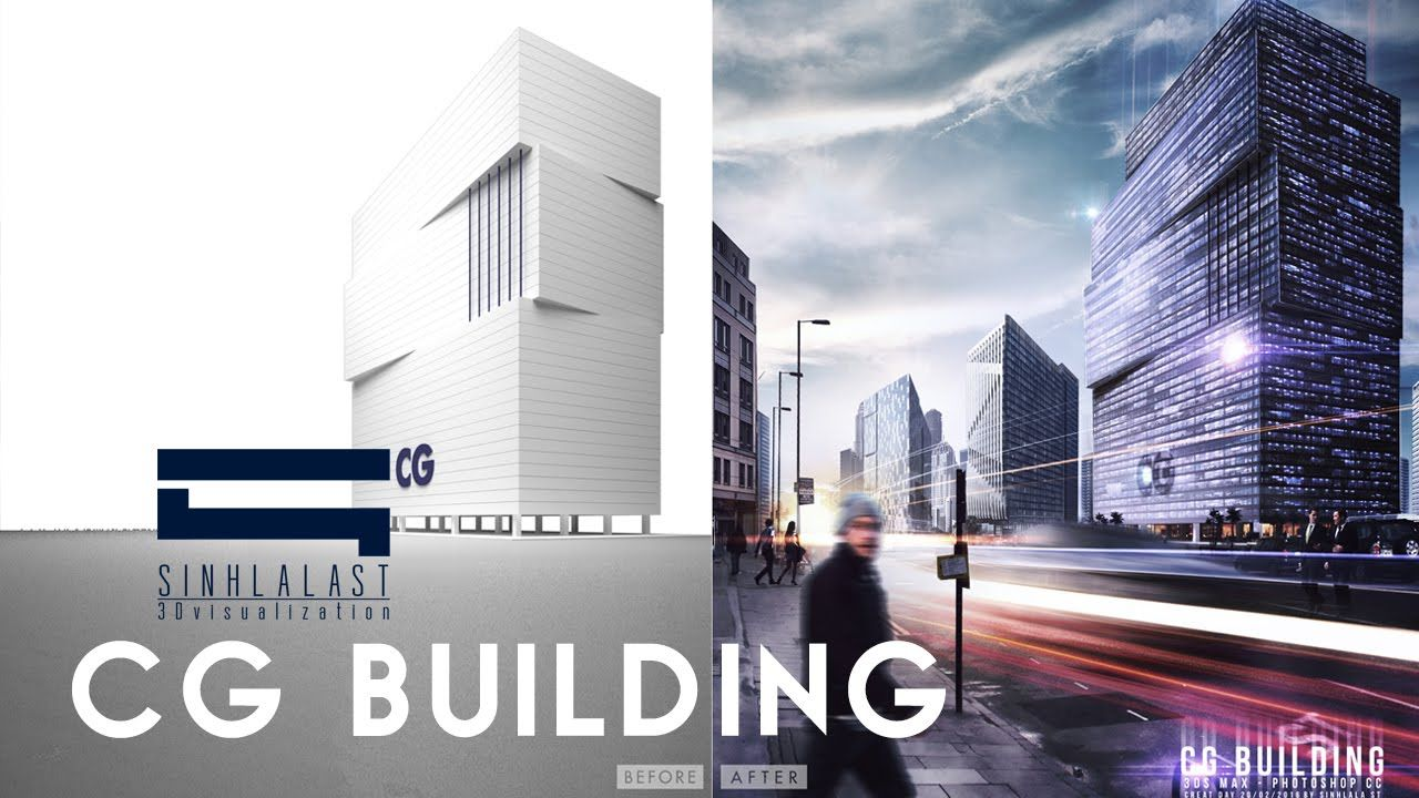 Photoshop post production for architectural visualization show layer